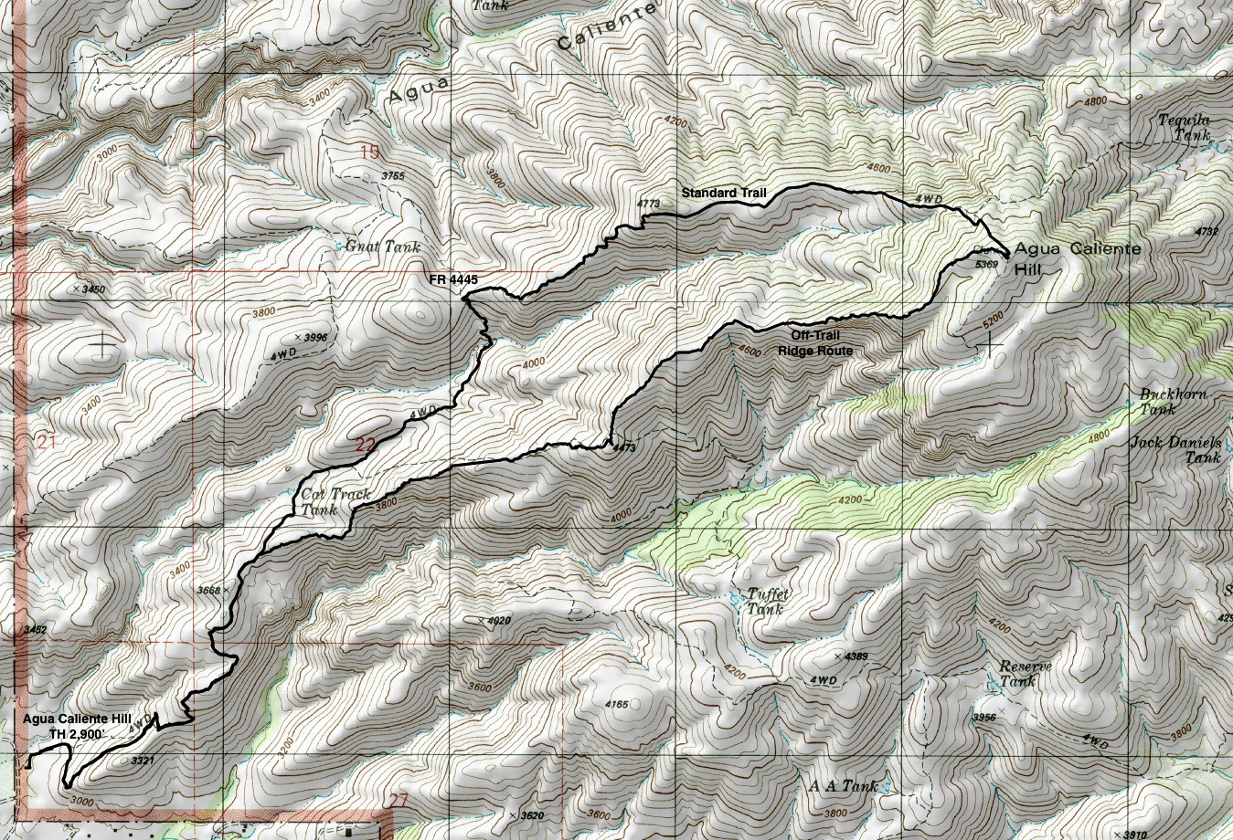 Earthline The American West Agua Caliente Hill Coronado - Us nationals houghton 2015 course map