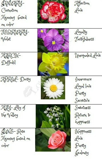 Creatively Unique Birthstones and Birth flowers What does it all