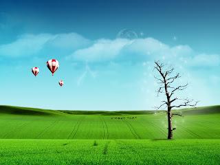 uçan balon ve balonlar yeşillik gökyüzü ve manzara resimleri