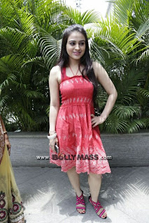 0003 WWW.BOLLYM.COM Actress Aksha in Red  Frock at Lithi Spa Slimming   Cosmetic Clinic launch Picture Posters Stills Image Wallpaper Gallery.jpg