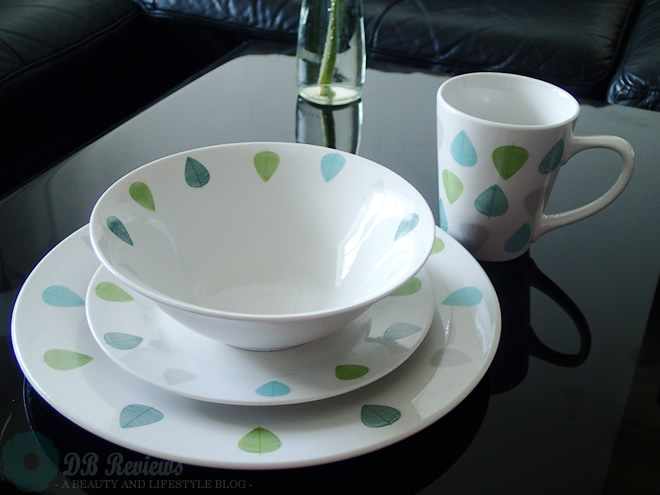 Premier Housewares Green Leaf Dinner Set