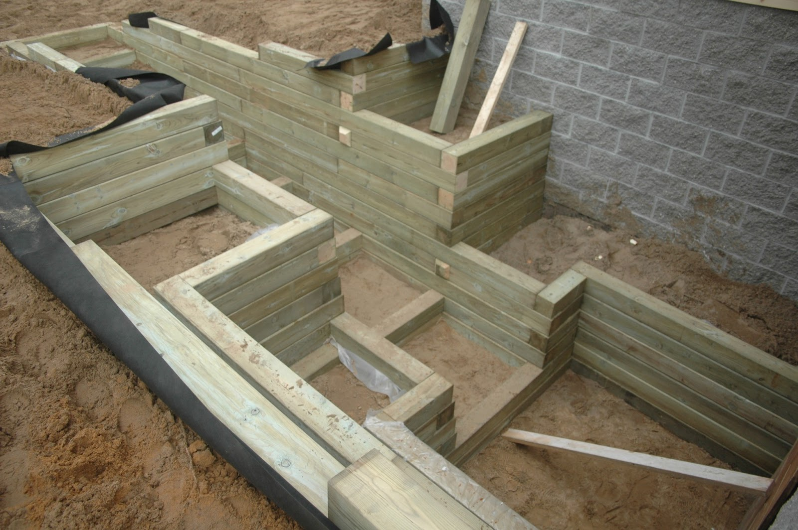 how to build a retaining wall with 6x6 wood