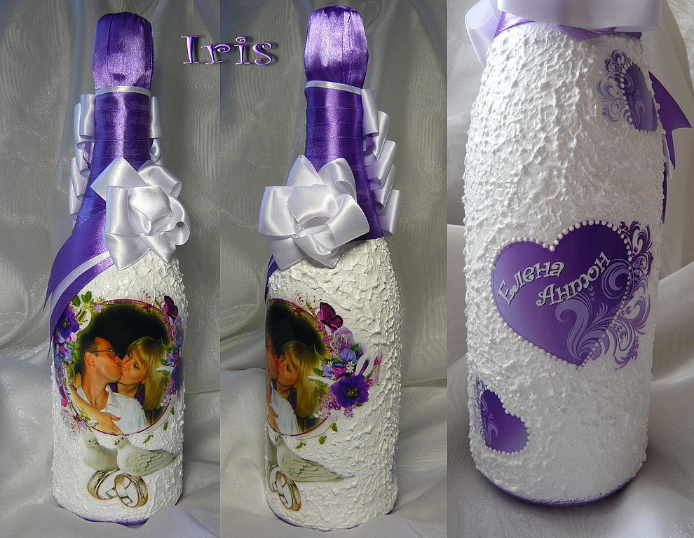 Свадебные бутылки картинки