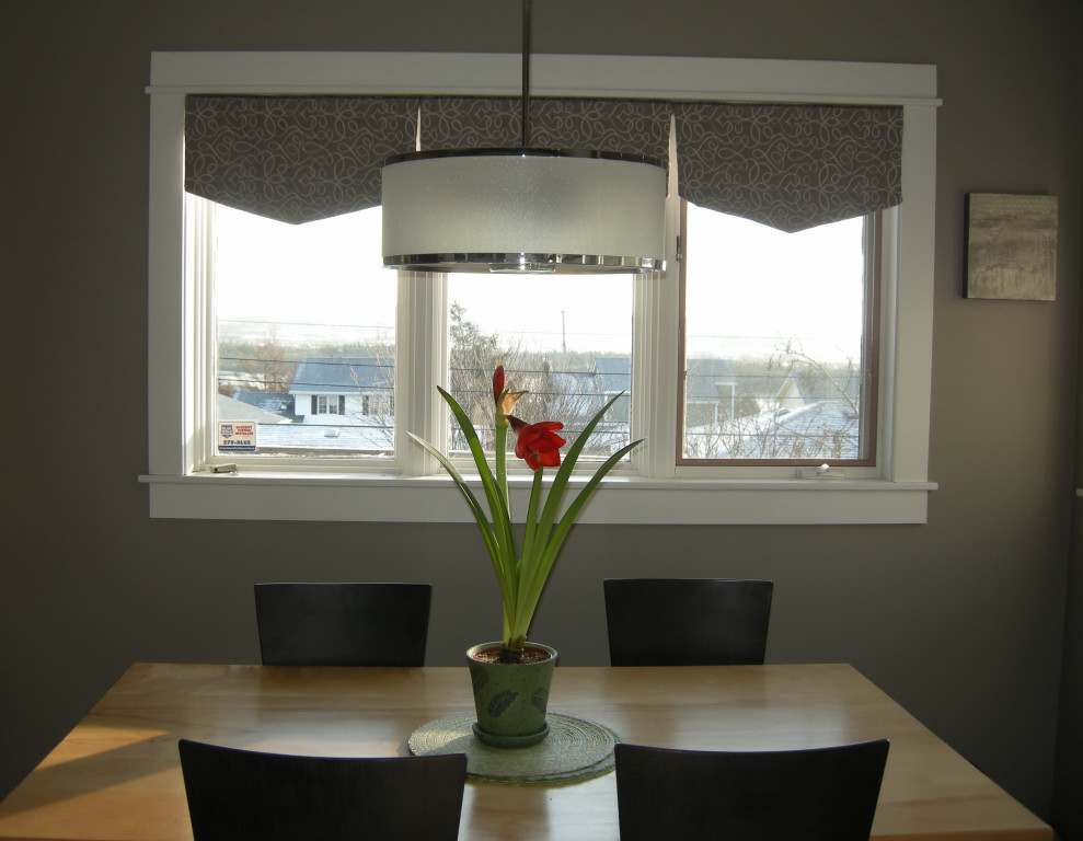 dining table light above dining table height