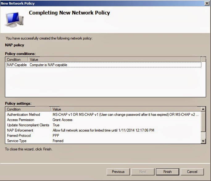Configuring a Network Policy