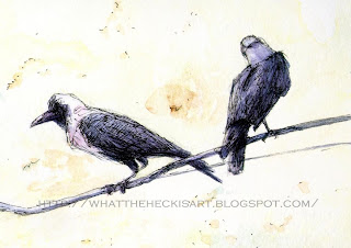 crow painting by gurmeet