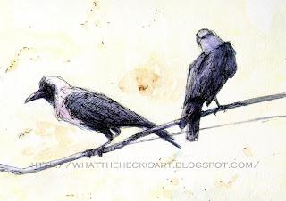 crow painting by gurmeet