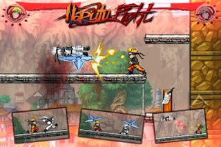 Screenshots of the Naruto Fight Shadow Blade X for Android tablet, phone.