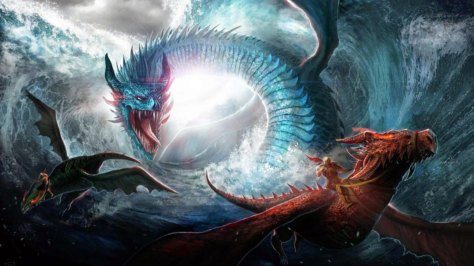 Papel de Parede Dragões Lendários Lutando para pc hd grátis Dragon desktop hd wallpaper image free