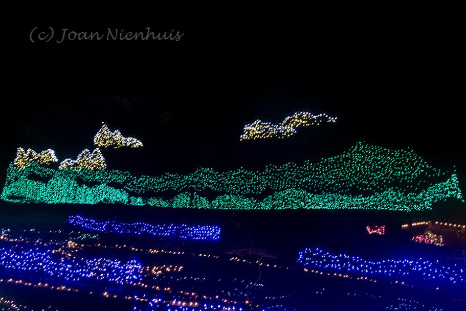 i loved the mountain scenes while several were static this one showed night - Warm Beach Lights Of Christmas