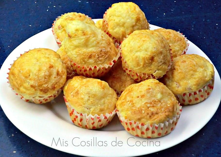 Muffins de Jamon york y queso