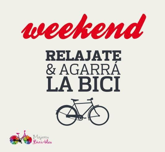 ...Relájate y agarra la bici...