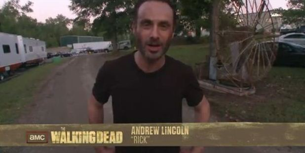 Andrew Lincoln o Rick de The Walking Dead 3 temporada