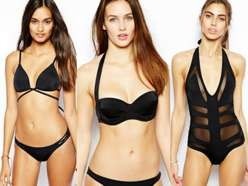 best summer 2014 black bathing suits