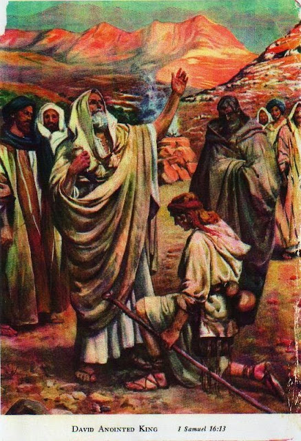 David Anointed King - 1 Samuel 16:13 (Artist unknown)