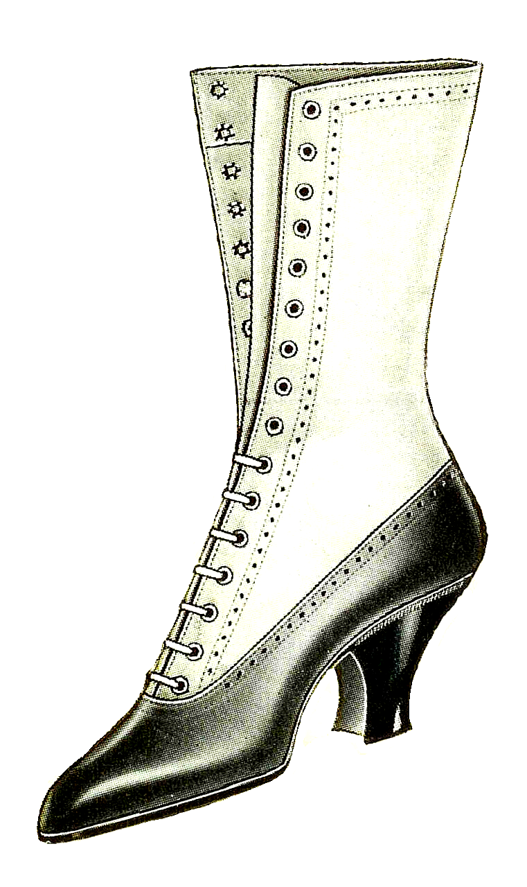 Boots fashion pic boots clip art - This Is A Beautiful Women S Shoe Graphic From A 1917 Clothes Catalog I Love The Contrast Between Black And White And The Heel