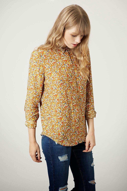 mustard flower shirt