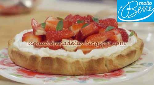Crostata con crema al mascarpone e fragole ricetta Parodi per Molto Bene su Real Time