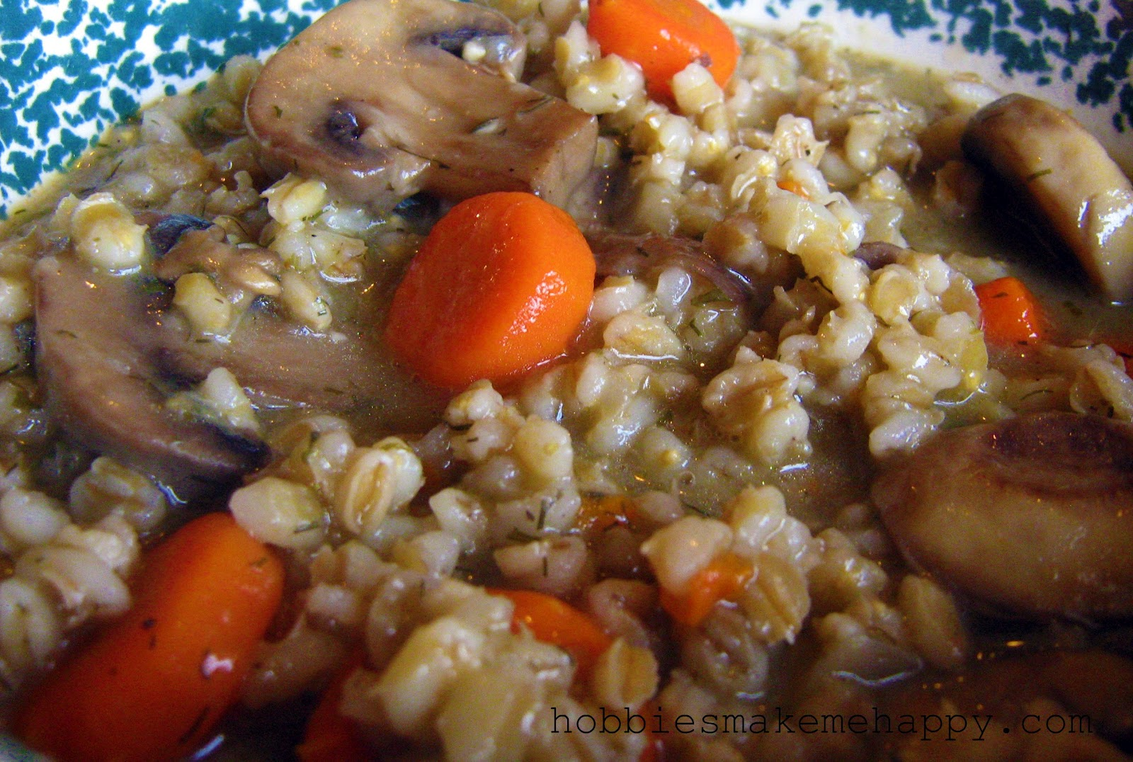 Hobbies Make Me Happy: Mushroom Barley Soup