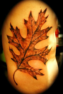 leaf tattoo design