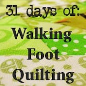 31 days of Walking Foot