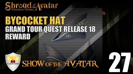 Grand Tour Quest - Release 18 - Reward - Bycocket Hat