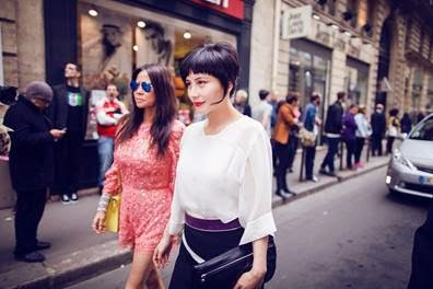 Josie Ho and Yvette Yung Paris Fashion Week
