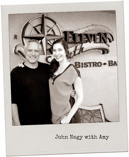 Amy West with John Nagy of Eleven South Bistro & Bar