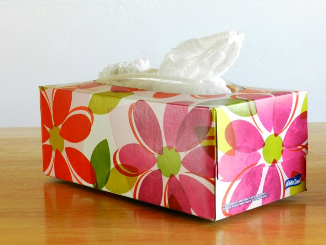 Image result for tissue box as plastic bag holder