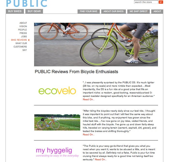 Review featured on Public Bikes