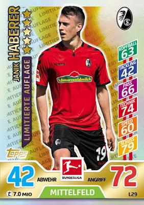 Sticker 47 Ishak Belfodil TOPPS Bundesliga 2017//2018