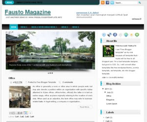 Fausto Magazine Blogger template