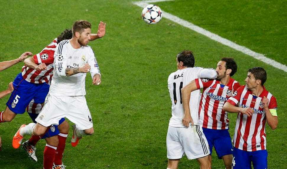 Sergio Ramos (1-1) Real Madrid 4 - 1 Atlético de Madrid - 24/05/2014 Real Madrid Campeón de Champions League 2013/2014.