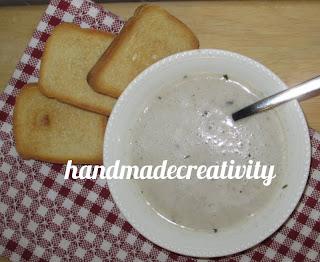 crema zuppa funghi ricetta primo piatto handmadecreativity