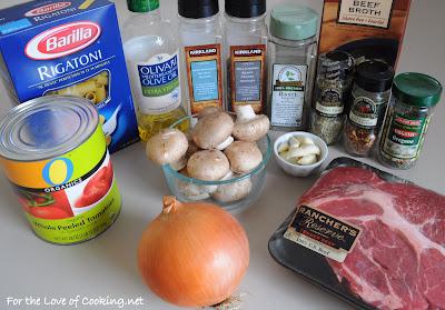 Beef and Mushroom Ragu over Rigatoni