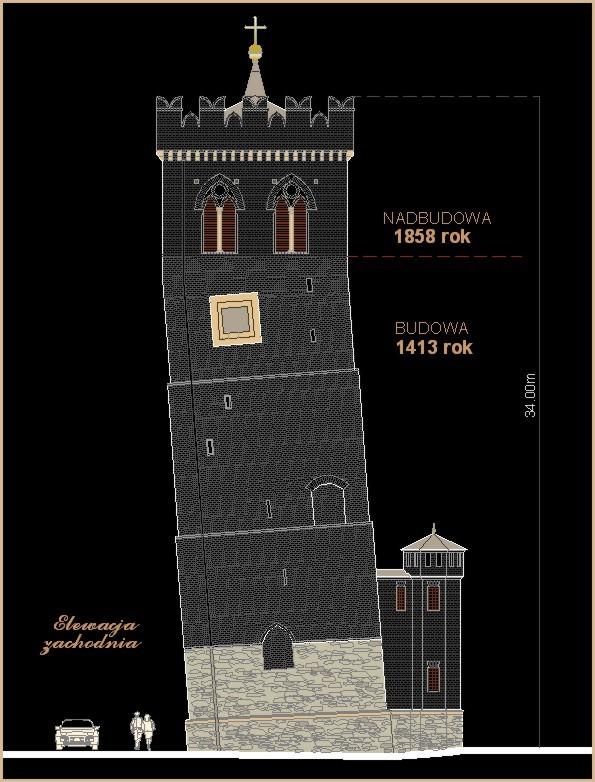 ZĄBKOWICE Krzywa Wieża