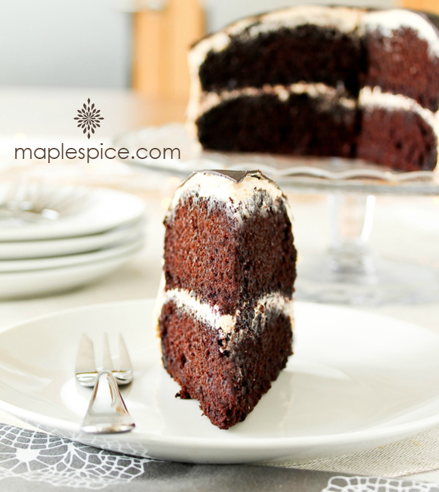 Vegan and Gluten-Free Mocha Celebration Cake