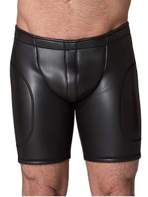 Neoprene Open Ass Long Shorts Black Gayrado
