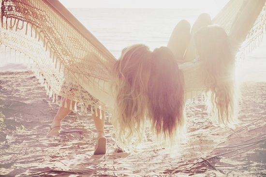 girls in hammock on beach via Ali Mitton