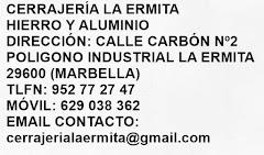 """Empresa cerrajería """"La ermita"""""""