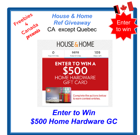 image Canadian Freebie - Free Giveaway Enter to win a $500 GC