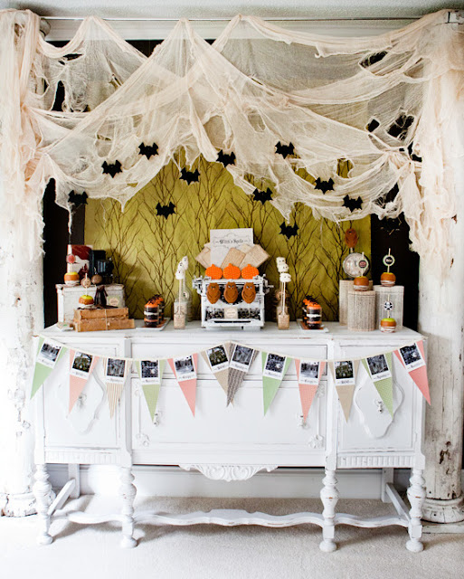 shabby chic halloween decorating ideas