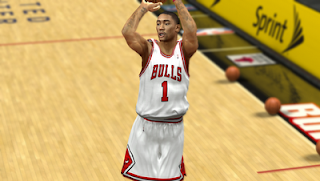 NBA 2K13 Chicago Bulls Home Jersey Patch Mod