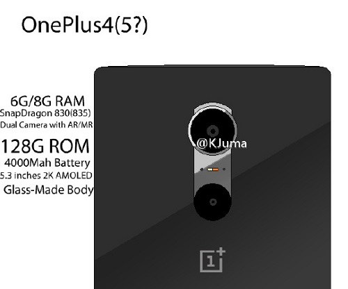 Leak Specifications of OnePlus 4... 8GB Ram