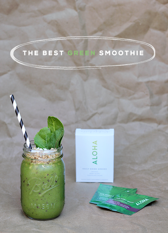 The Best Green Smoothie // Bubby and Bean