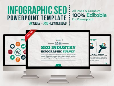 Infographic Ideas infographic survey powerpoint template : PowerpointRIVER©