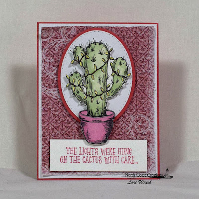 North Coast Creations Stamp set: Cactus Lights, Our Daily Bread Designs Custom Dies: Ovals, Stitched Ovals, Our Daily Bread Designs Paper Collection: Christmas 2015