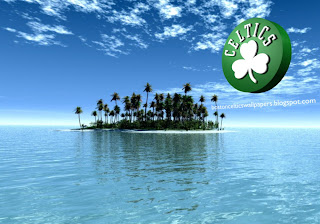 Boston Celtics desktop Wallpapers Celtics Left Logo in Paradise Island Desktop wallpaper