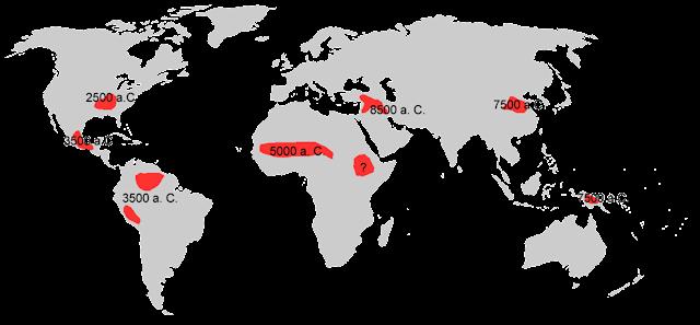 Mapa aparición Neolítico.