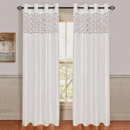 rideau blanc rideaux et voilages. Black Bedroom Furniture Sets. Home Design Ideas